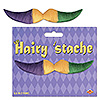 GREEN-GOLD-PURPLE HAIRY 'STACHE PARTY SUPPLIES