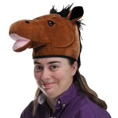 Click for larger picture of PLUSH HORSE HEAD-HAT (6/CS) PARTY SUPPLIES