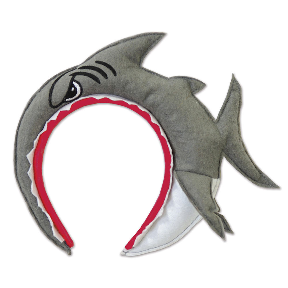 Click for larger picture of SHARK HEADBAND (12/CS) PARTY SUPPLIES