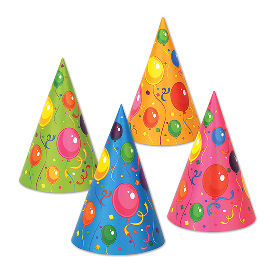 FLUORESCENT CONE HAT (144/CS) PARTY SUPPLIES