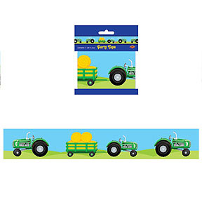 Click for larger picture of TRACTOR PARTY TAPE (12/CS) PARTY SUPPLIES