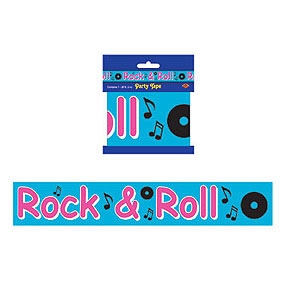 Click for larger picture of ROCK & ROLL PARTY TAPE PARTY SUPPLIES