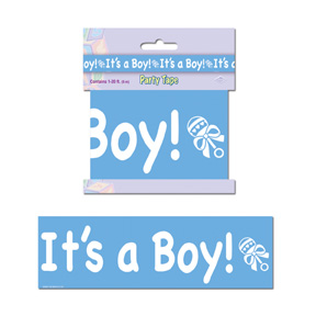 Click for larger picture of IT'S A BOY PARTY TAPE PARTY SUPPLIES