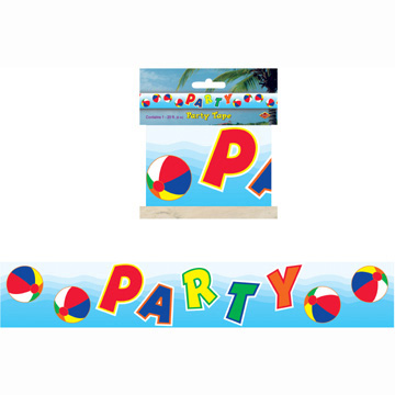 Click for larger picture of BEACH BALL PARTY TAPE PARTY SUPPLIES