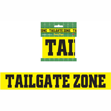 Click for larger picture of TAILGATE ZONE PARTY TAPE (12/CS) PARTY SUPPLIES