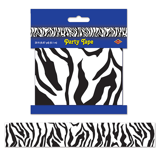 ZEBRA PRINT PARTY TAPE PARTY SUPPLIES