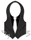 PLASTIC GANGSTER VEST (48/CS) PARTY SUPPLIES