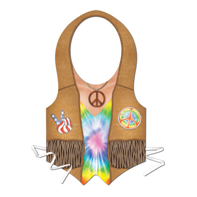Click for larger picture of PLASTIC HIPPIE VEST (24/CASE) PARTY SUPPLIES