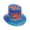 HAPPY 50 BIRTHDAY BLUE HI-HAT (25/CS) PARTY SUPPLIES