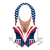 PLASTIC FEMALE PATRIOTIC VEST (48/CS) PARTY SUPPLIES