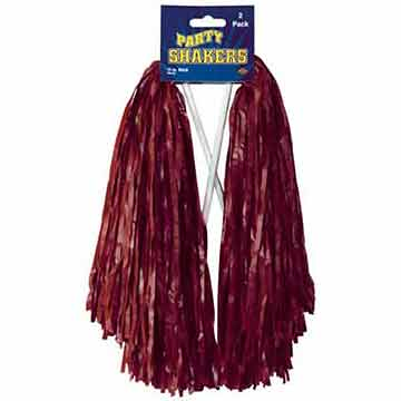 MAROON POLY SHAKER - 512 STRAND (144/CS) PARTY SUPPLIES