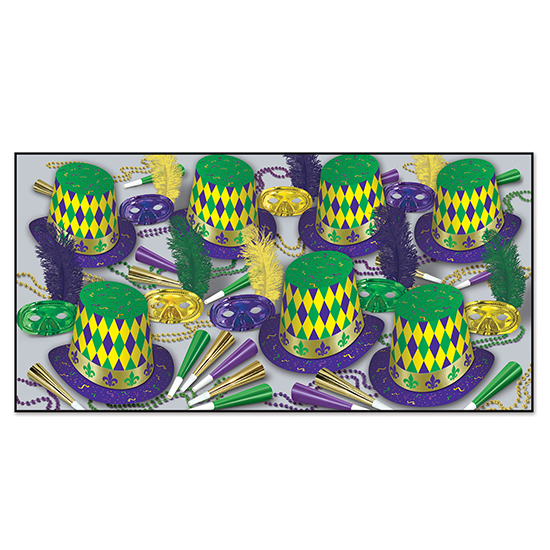 MARDI GRAS ASST FOR 50 PARTY SUPPLIES