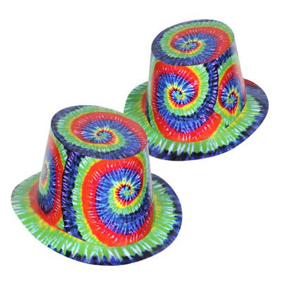 Click for larger picture of TIE-DYED HI-HAT (25/CS) PARTY SUPPLIES
