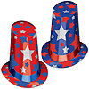PATRIOTIC SUPER HI-HATS (10/CS) PARTY SUPPLIES