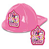 FIRE CHIEF HAT PINK PLASTIC PARTY SUPPLIES