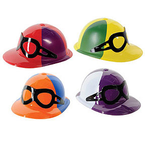 Click for larger picture of JOCKEY HELMET WITH GOGGLES PLASTIC PARTY SUPPLIES