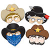 WESTERN MASKS (48/CS) PARTY SUPPLIES