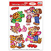 CUDDLY CRITTER VALENTINE CLINGS (12/CS) PARTY SUPPLIES