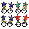 NEW YEAR STAR BOPPER GLASSES (12/CS) PARTY SUPPLIES