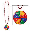 BEADS W/NEW YEAR SPINNER MEDALLION (12/C PARTY SUPPLIES