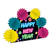 NEW YEAR POP-OVER CENTERPIECE (12/CASE) PARTY SUPPLIES