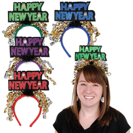 HAPPY NEW YEAR HEADBANDS (12/CASE) PARTY SUPPLIES