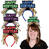 GLITTERED HAPPY NEW YEAR HEADBANDS PARTY SUPPLIES