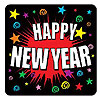 DISCONTINUED HAPPY NEW YEAR COASTERS PARTY SUPPLIES