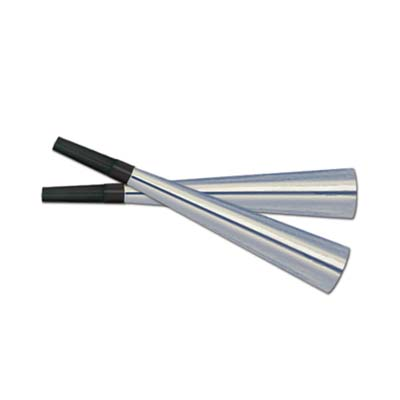 Click for larger picture of SPARKLING SILVER HORNS (100/CS) PARTY SUPPLIES