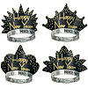 SPARKLING GOLD TIARAS BLACK & GOLD PARTY SUPPLIES