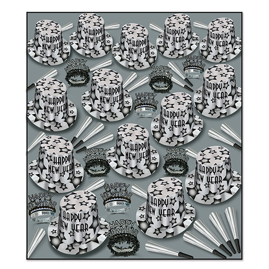 GEM-STAR DLX SILVER ASST FOR 100 PARTY SUPPLIES