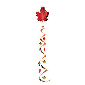 JUMBO FALL LEAF WHIRL DECORATION PARTY SUPPLIES