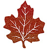 DISCONTINUED GLITTERED MAPLE LEAF 10IN. PARTY SUPPLIES
