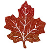 DISCONTINUED GLITTERED MAPLE LEAVES 5IN PARTY SUPPLIES