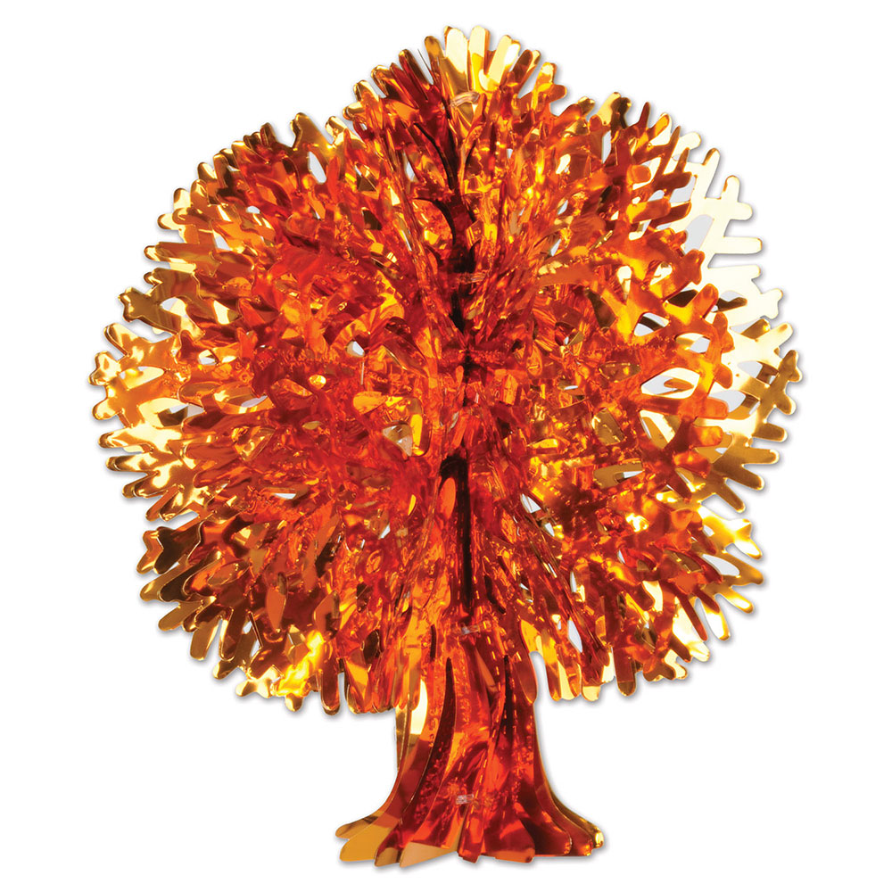Click for larger picture of METALLIC FALL TREE (12/CS) PARTY SUPPLIES