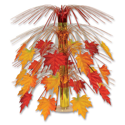Click for larger picture of FABRIC FALL LEAVES CENTERPIECE (6/CS) PARTY SUPPLIES