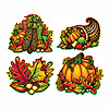 PKGD AUTUMN SPLENDOR CUTOUTS (48/CS) PARTY SUPPLIES