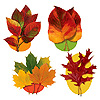 AUTUMN LEAF CUTOUT DECORATION PARTY SUPPLIES