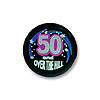 50 AND OVER-THE-HILL SATIN BUTTON (6/CS) PARTY SUPPLIES