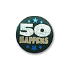 50 HAPPENS SATIN BUTTON (6/CS) PARTY SUPPLIES