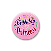 BIRTHDAY PRINCESS SATIN BUTTON (6/CS) PARTY SUPPLIES