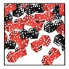 DICE CONFETTI RED AND BLACK (6/CS) PARTY SUPPLIES