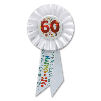 Click For Larger Picture Of 60 AND SENSATIONAL ROSETTE PARTY SUPPLIES