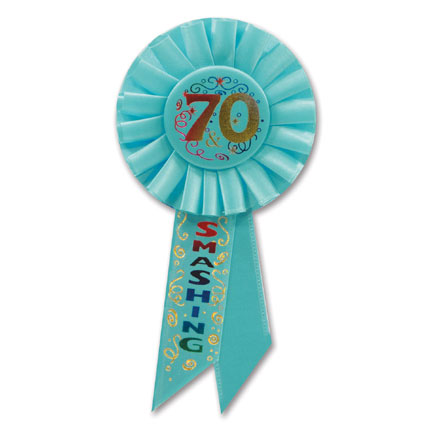 Click for larger picture of 70 & SMASHING ROSETTE PARTY SUPPLIES