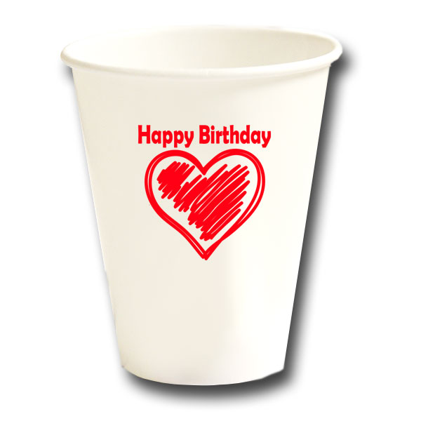 BIRTHDAY LOVE HOT COLD CUP PARTY SUPPLIES