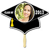 BLACK GRAD CAP PHOTO PADDLE PARTY SUPPLIES