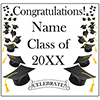 BLACK MORTARBOARD GRAD DOOR BANNER PARTY SUPPLIES