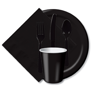 BULK BLACK TABLEWARE