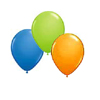 BLUE, ORANGE, LIME GREEN BALLOONS PARTY SUPPLIES