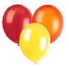 RED ORANGE YELLOW BALLOON COMBO (SOLID) PARTY SUPPLIES
